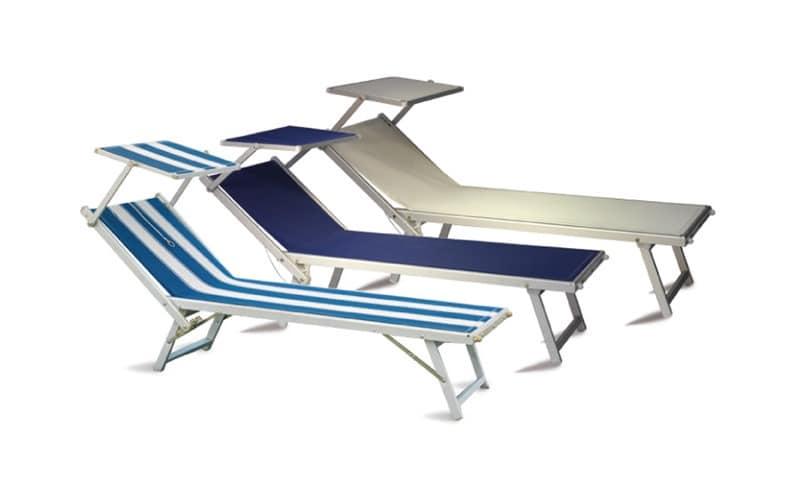 Alluminium Sonnenbänke für Schwimmbad und Garten  IDFdesign