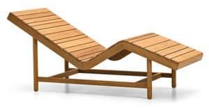 Barcode Relaxliege, Relaxliege mit Holzlatten, ideal für Sauna