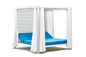 Bivacco gazebo, Doppelter Deck mit verstellbaren Rückenlehnen, für außen