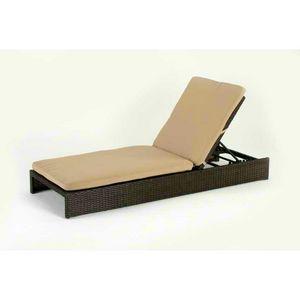 Billardtisch aus Polyrattan-Aluminium MALESIA - MA100RATC, Synthetisches Rattan Sonnenliege für Gärten und Schwimmbad