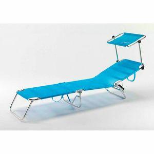 Strandkorb faltbar klappbar Aluminium Strand Schwimmbad CANCUN - CA800UVAA, Klappbarer Meeresboden mit Sonnenschirm