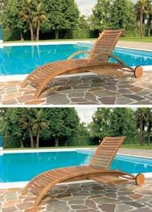 Mirage Liege, Sonnenbank für den Außenbereich, Motiv mit horizontalen Lamellen
