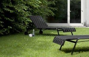 Rest Lounger, Sonnenliege mit Rädern, aus Aluminium und Polyester