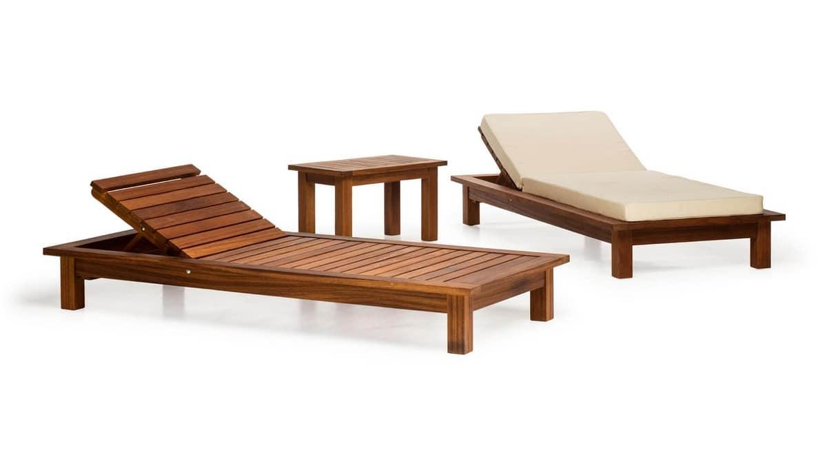 Daybed holz  Outdoor-Daybed in Holz, für Gärten, Schwimmbäder, Terrassen ...