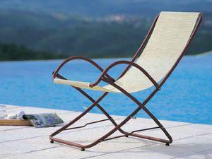 Taormina, Outdoor-Liegestuhl mit Armlehnen