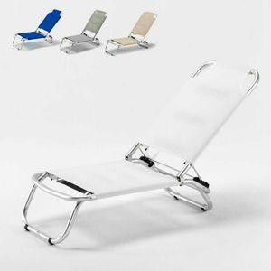 Strand Klappstuhl Tropical – TR800TEX, Liegestühle aus Aluminium und Textilene Stoff ideal für den Strand
