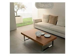 ART. 214/L LITTLE MALE', Couchtisch für Wohnzimmer, aus Holz und Metall gemalt