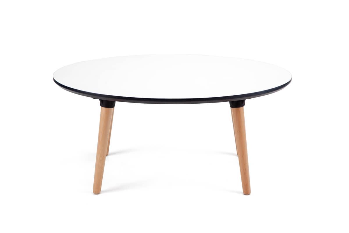 Niedriger Tisch Elliptisch Mit Nordic Design Idfdesign