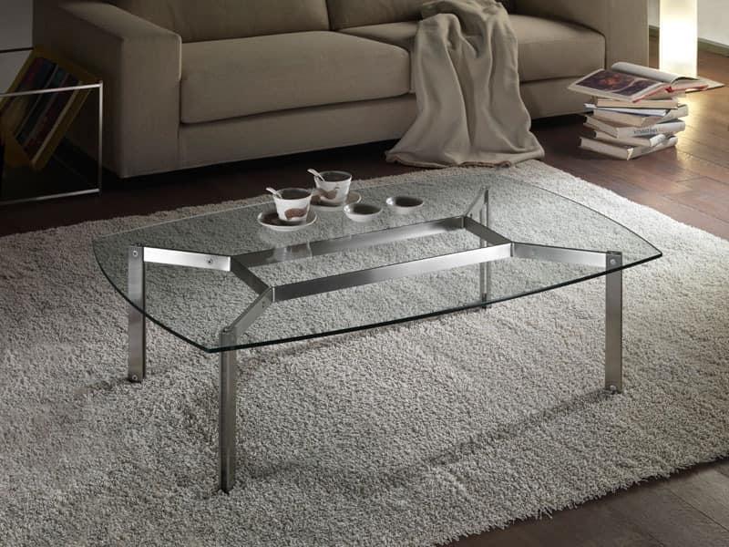 rechteckigen couchtisch aus glas f r wohnzimmer. Black Bedroom Furniture Sets. Home Design Ideas