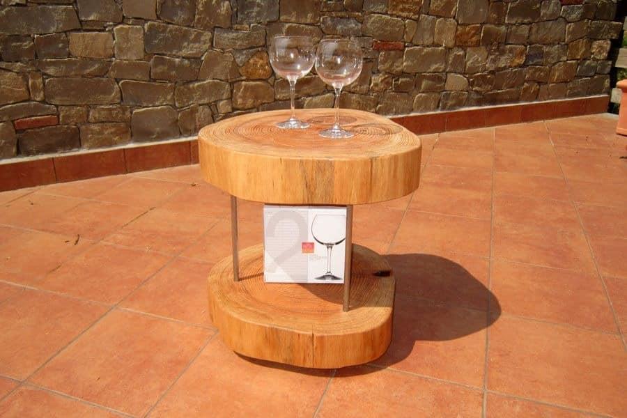 Puffo, Holz Runde Tische für zu Hause, moderne Couchtisch
