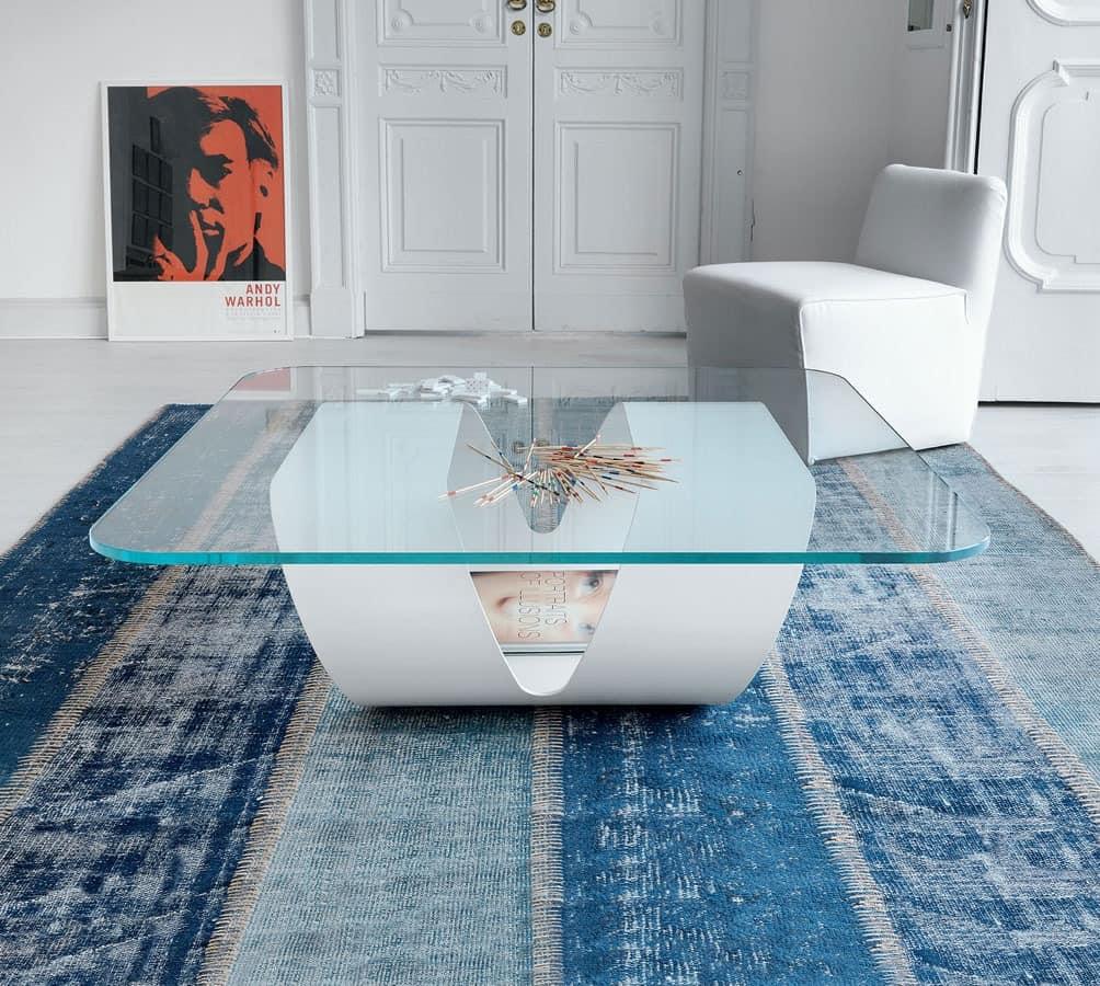 Kleiner tisch mit geradliniges design f r moderne bar for Design couchtisch ring