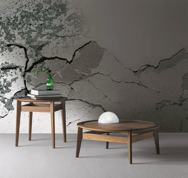 Kleine runde Couchtisch in Nussbaum Canaletto | IDFdesign