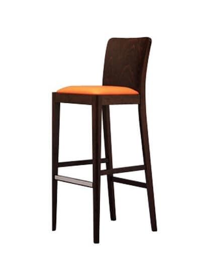 Sitze hocker modern holz einfach und polstersitz idfdesign for Barhocker einfach