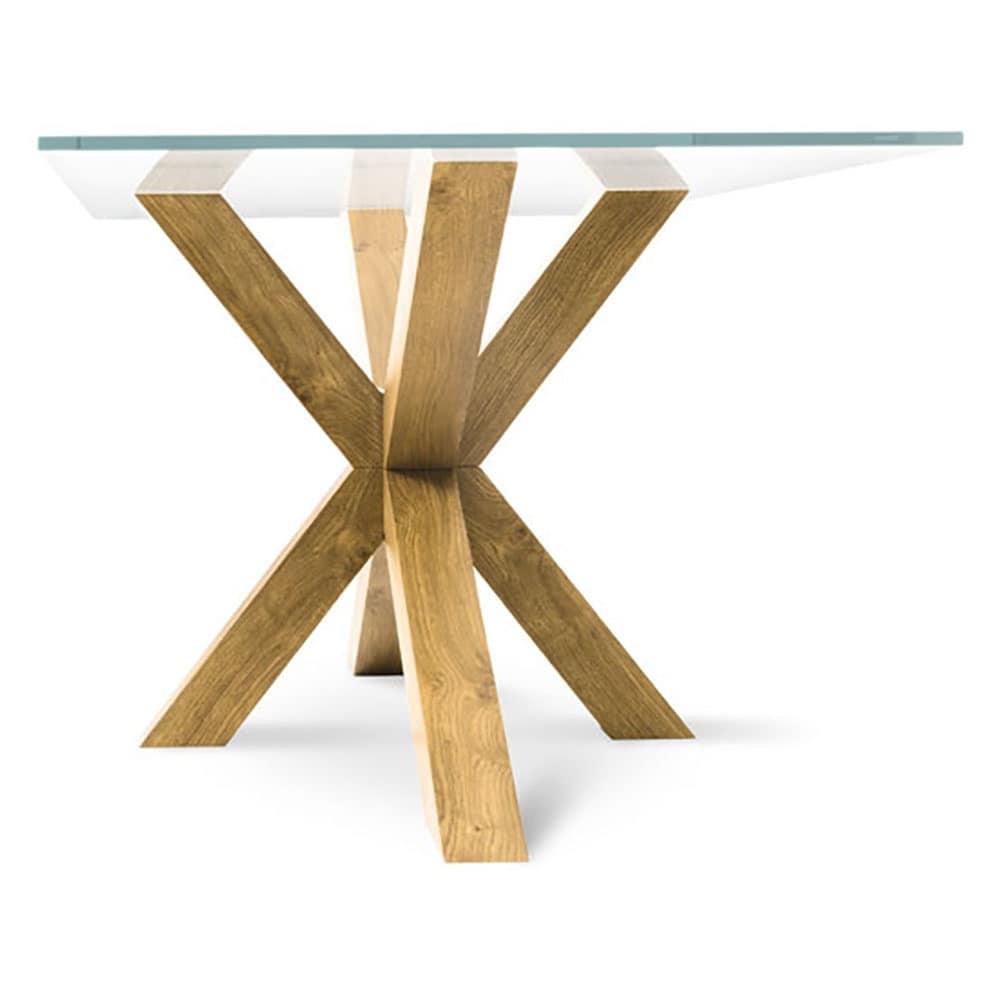 moderner tisch mit glasplatte, für wohnzimmer | idfdesign