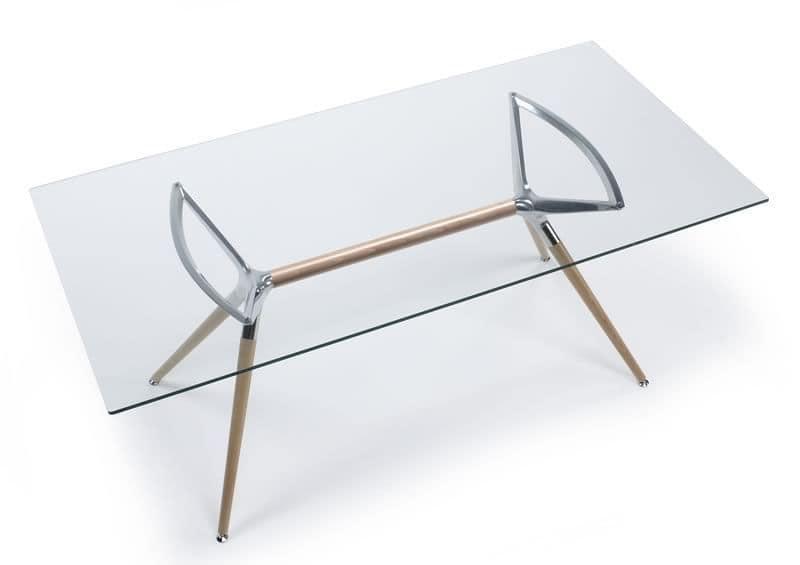 Outdoor Küche Edelstahl Metro : Rechteckiger design tisch aus holz glasplatte idfdesign