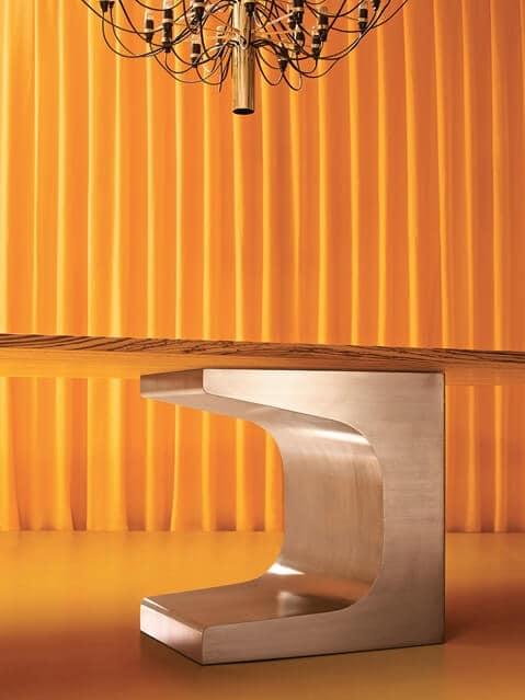 Tabellen design b ro geb rstetem stahl struktur idfdesign for Moderne holztische
