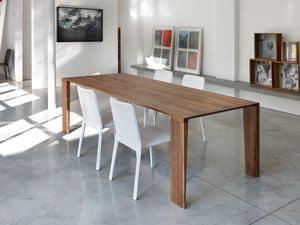 ART. 260/F ZEN, Tisch aus Massivholz, für die moderne Küche