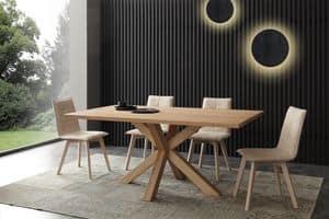 Art. 709 Cartesio, Moderner fester Tisch, natürlich gebeizt Asche
