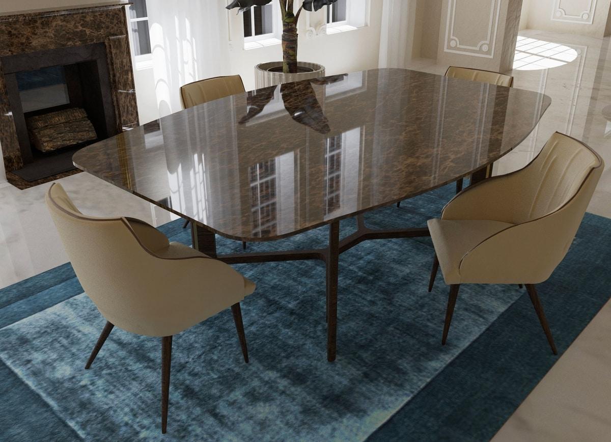 Avenue, Tisch mit Marmorplatte