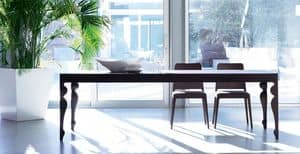 Giunione, Ausziehbarer Tisch aus Eichenholz