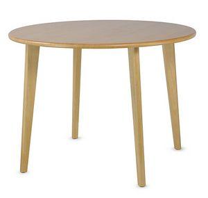 HIRO 1462, Holztisch mit runder Platte