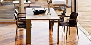 Jodan Tisch, Moderner Tisch, furniert Sperrholz, für Esszimmer