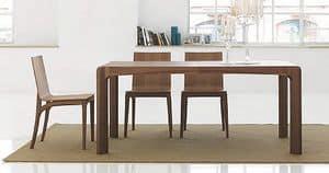 Kìnesis, Esstisch aus Holz, mit abgerundeten Kanten
