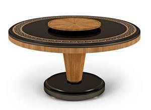 LEXINGTON AVENUE Tavolo, Runder Tisch mit Intarsien in Holz
