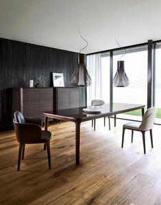Manda Tisch, Moderner Tisch mit genauen und gemessenen Proportionen