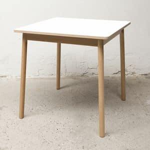 Tisch Bolz, Quadratischen Tisch, wasserabweisend und Anti-Schimmel