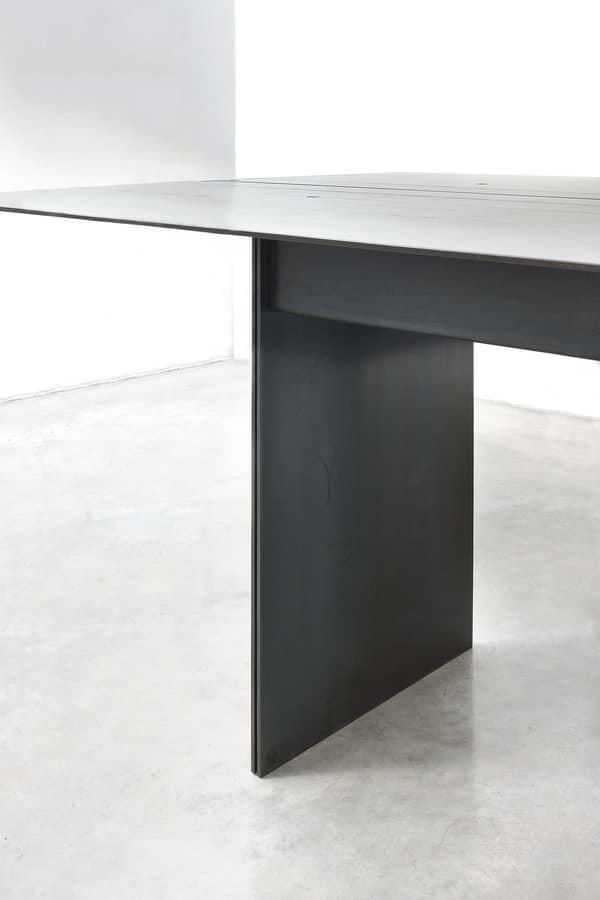 Elegant Tabelle in Metall beschichtet Wachs   IDFdesign