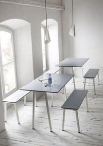 Format, Tisch mit Metallrahmen, Laminat