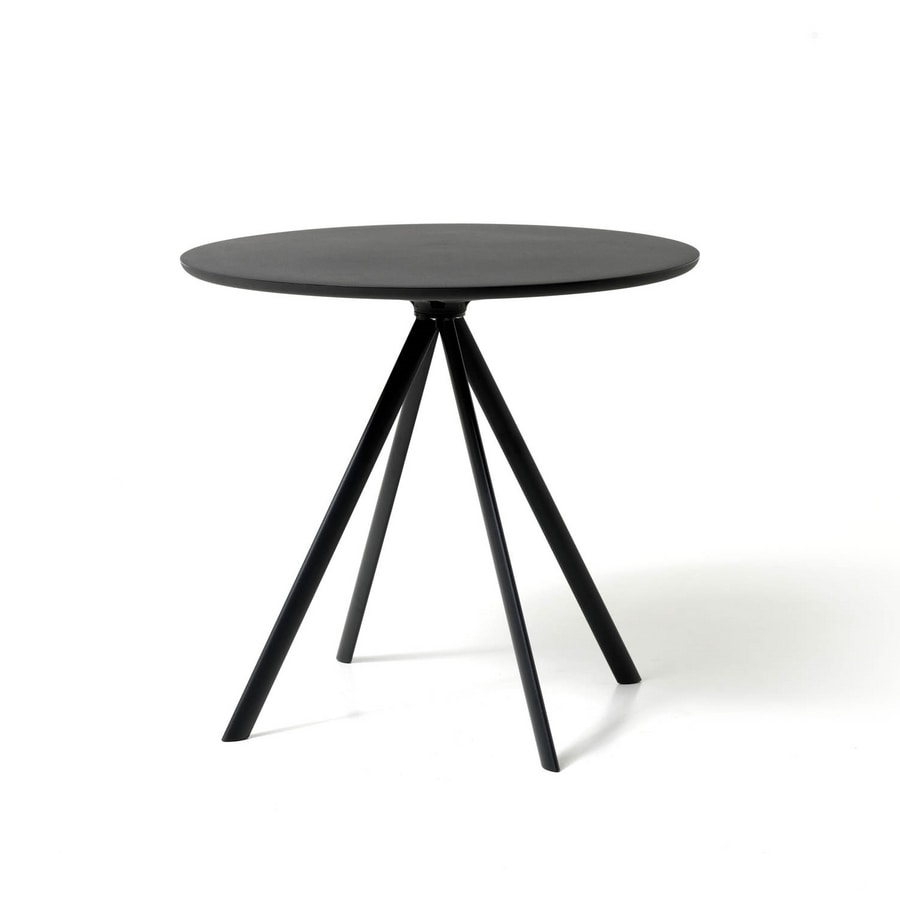Runder Tisch Metallgestell.Runder Tisch Mit 4 Beinen Aus Metall Mit Oberteil Aus