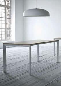 Profilo, Tisch aus lackiertem Metall, Laminat platte