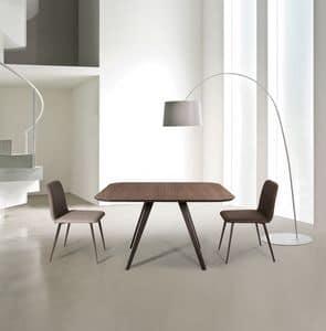 ART. AKY Met, Metall-Design-Tisch mit Laminat, für den Objektbereich