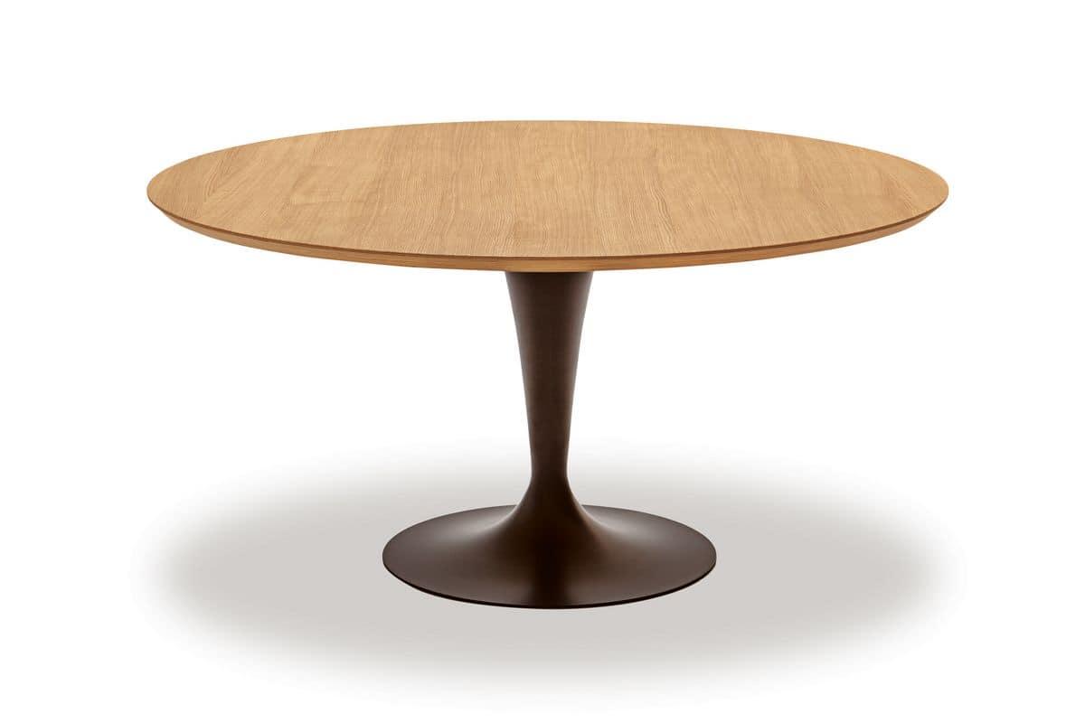 Moderne rundtisch mit oben in birkenholz idfdesign for Tisch design wood