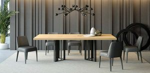 Ironwood Tisch Jupiter Eiche, Esstisch aus Eisen und Eichenholz