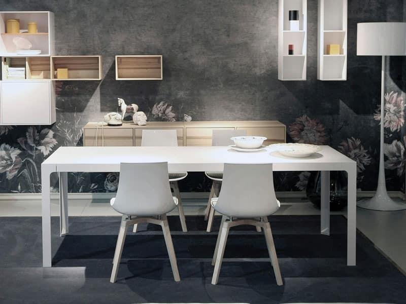 quadratischen tisch metallrahmen holzplatte idfdesign. Black Bedroom Furniture Sets. Home Design Ideas
