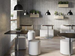 TABELLE MFC, Runder oder quadratischer Tisch mit Melaminplatte