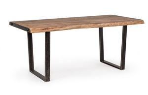 Tisch Elmer 180X90, Tisch mit handgearbeiteter Holzplatte
