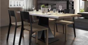 Trog junior, Tisch mit eleganter Eisenbasis