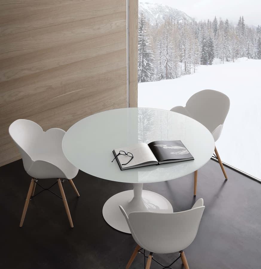 Atemberaubend Runder Glasplatte Küche Tische Und Stühle Ideen ...