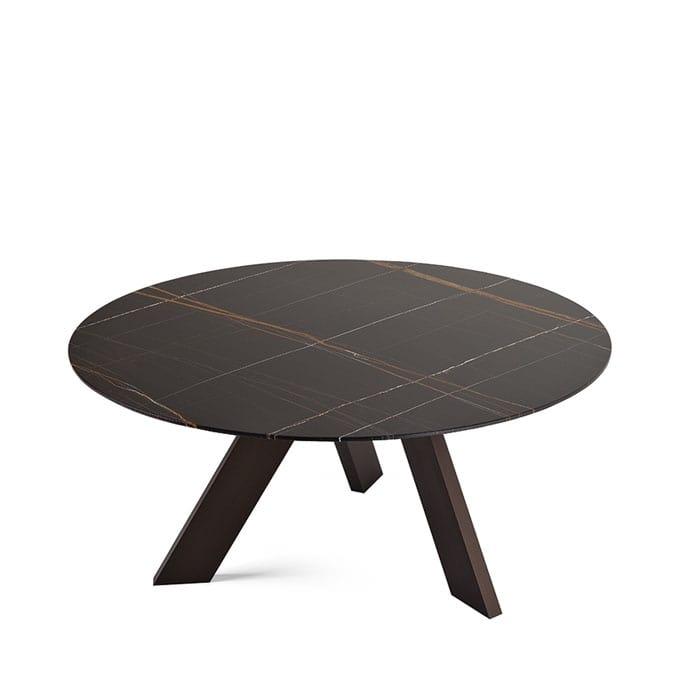 Oval design tisch mit glasplatte mit 3 beinen idfdesign for Tisch design oval