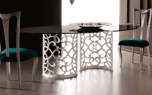 Flora Art. 223-RS1M, Tisch mit eleganter Aluminiumbasis