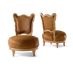 5804 Gattone, Loungesessel mit rundem Sitz