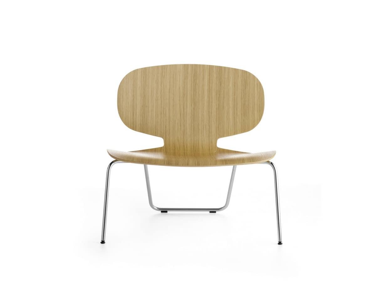stuhl mit breiten sitz in sperrholz f r wartezimmer idfdesign. Black Bedroom Furniture Sets. Home Design Ideas