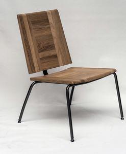 EAGLE A04, Lounge Sessel aus Metall und Eiche
