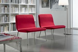 Lilly AT, Stuhl für Wartebereiche, mit großem Sitz