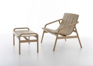 Loungette, Outdoor-Lounge-Sessel, in Buchenholz und Polyurethan