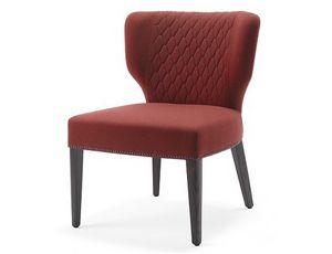 Morena-SL, Stuhl für Hotels, mit einem breiten Sitz ausgestattet